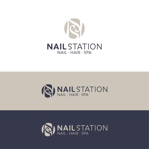 Nail logo with the title 'Nail Station'