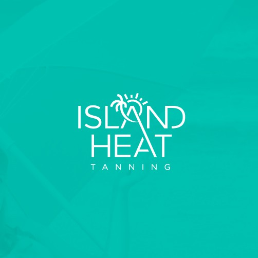Tanning design with the title 'Island Heat Tanning'