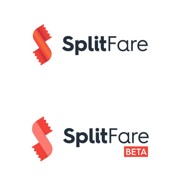 Half logo with the title 'LOGO DESIGN  for Split Fare'