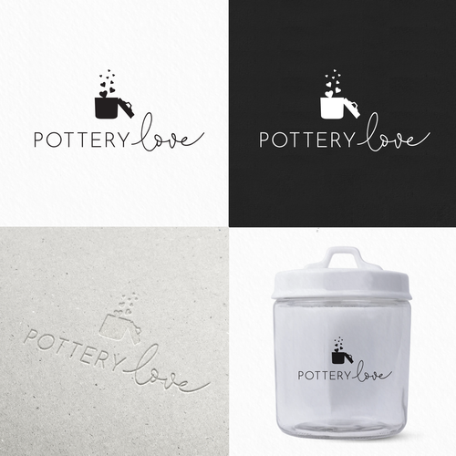 Love logo with the title 'Pottery love'