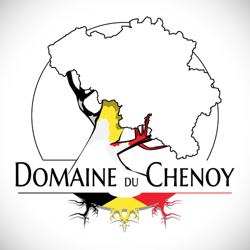 Belgium design with the title 'Domaine du Chenoy'