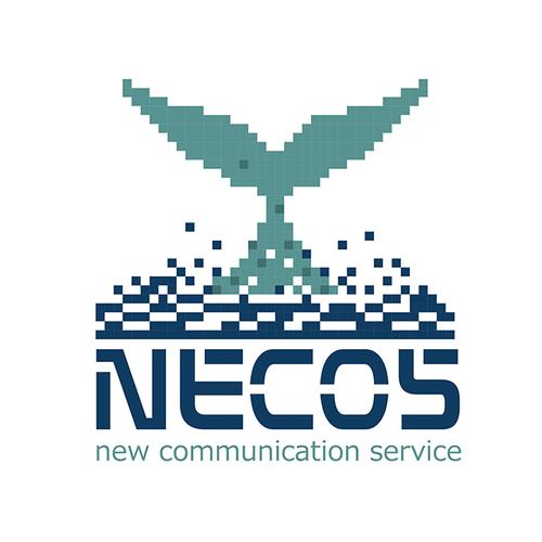 Splash logo with the title 'necos'