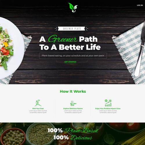 Recipe design with the title 'Creative Healthy Recipes and Schedule Website Design'