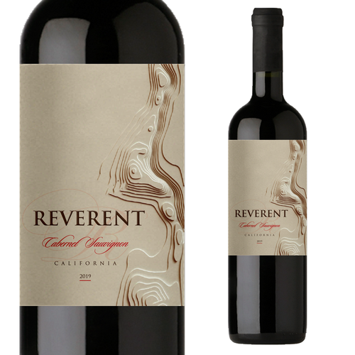 Red wine label with the title 'Wine label'