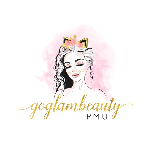 Pretty design with the title 'Glam Beauty'
