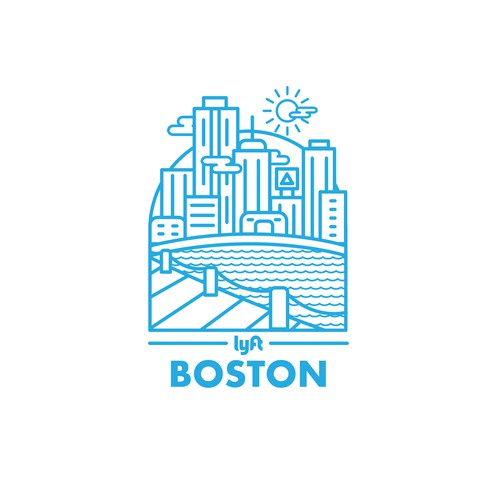 Boston design with the title 'iconic city imagery'