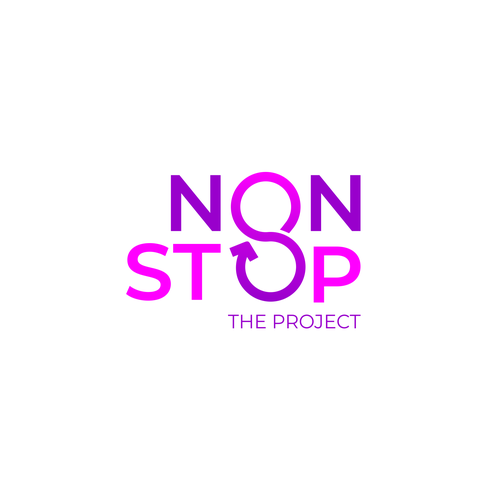 Infinity logo with the title 'NON STOP LOGO'