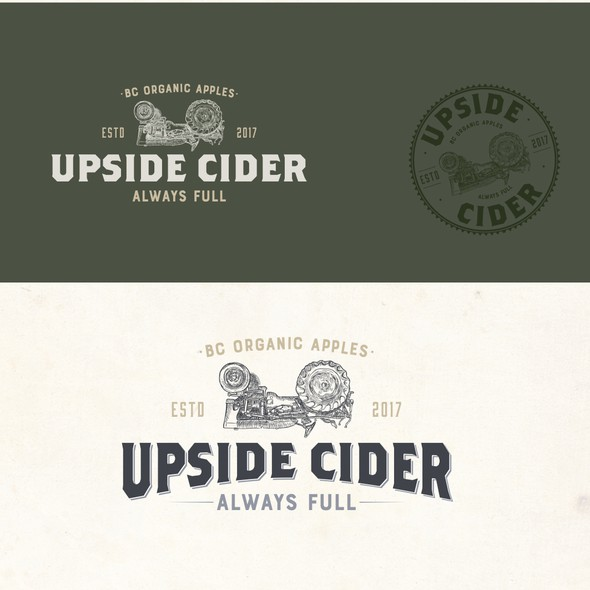 Small business logo with the title 'Cider logo'