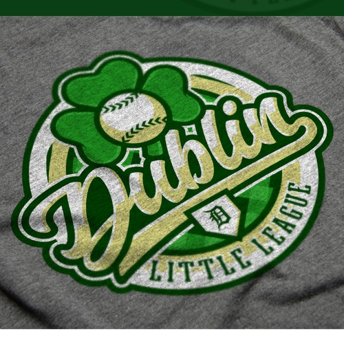 Shamrock logo with the title 'Little League Baseball Concept'