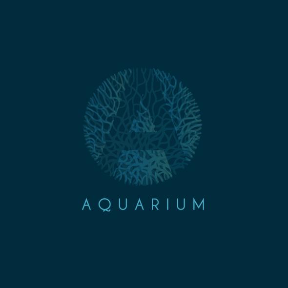 Coral design with the title 'Aquarium'