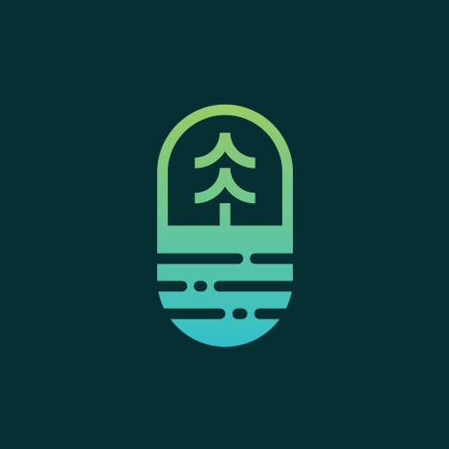 Wave design with the title 'pill + oasis + pine'