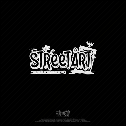 Street art design with the title 'Graffiti logo concept for The Street Art Collective'