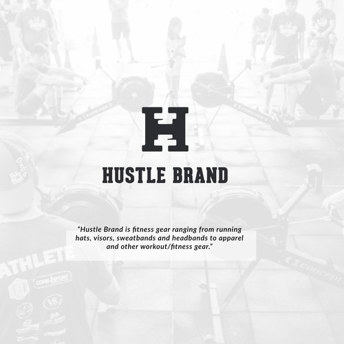 H logo with the title 'H Hustle Gym'