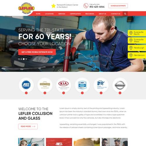Automotive design with the title 'Automobile Engineer Website Design'