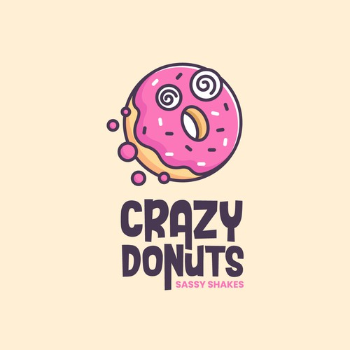 Crazy design with the title 'Crazy Donuts'