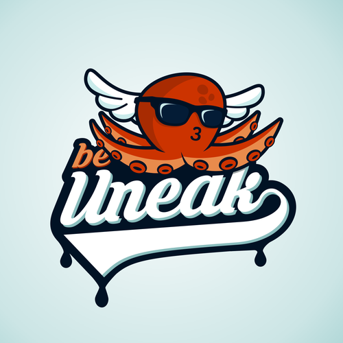Funny logo with the title 'be Uneak'