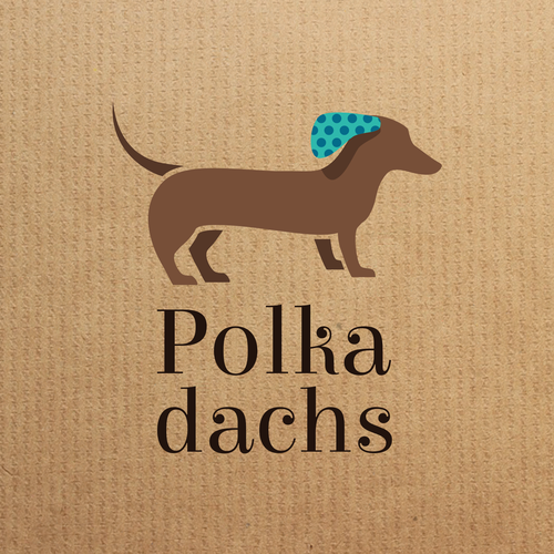 Dachshund logo with the title 'Logo for wedding service'