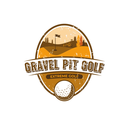 Recreation design with the title 'Name the Extreme Golf Gravel Pit Contest'