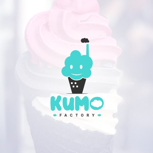 """Cone design with the title '""""CLOUD"""" Logo! for Soft serve & boba shop'"""