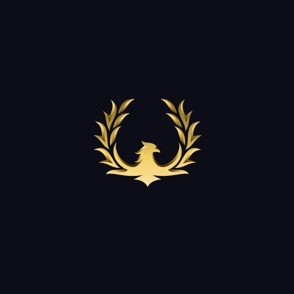 Gold circle logo with the title 'Golden phoenix'