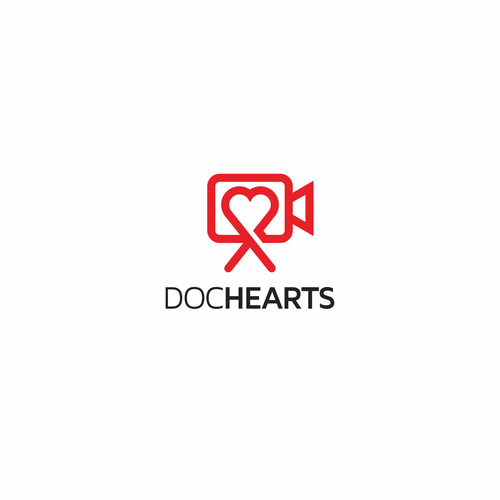 Digital Media logo with the title 'Clean and Crisp logo design for Doc Hearts'