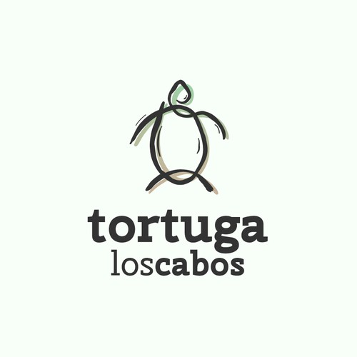 Tortoise logo with the title 'Abstract line logo of turtle'