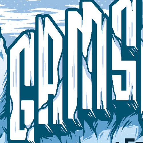 Label illustration with the title 'GAMSBART'
