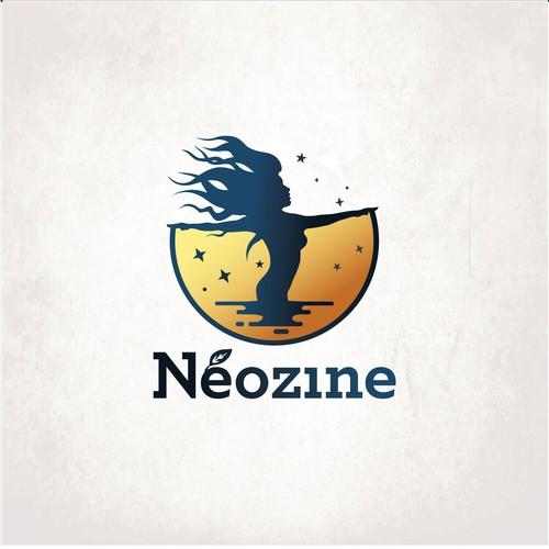 Silhouette design with the title 'Neozine'