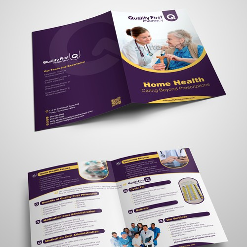 Care design with the title 'Home Health Brochure'