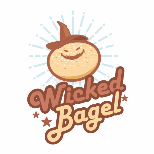 Wicked logo with the title 'Logo for bagel bakery'