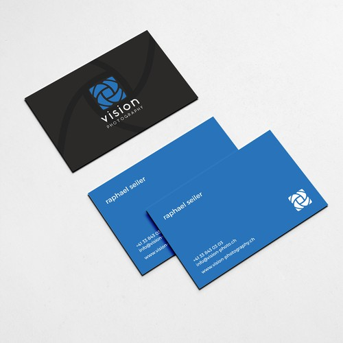 Sharp design with the title 'Business Card for a Photographer'