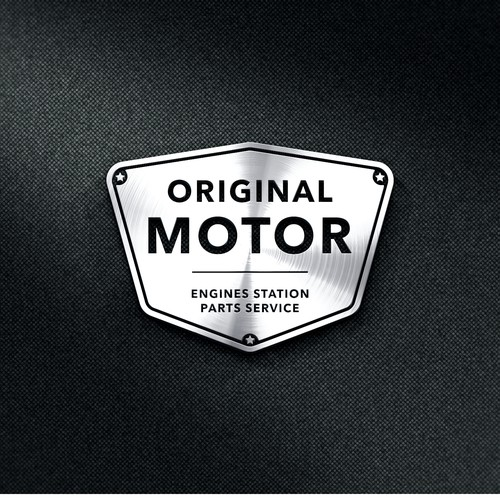 Motor logo with the title 'Logo e-commerce motor'