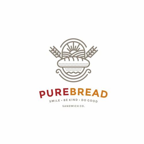 Grain design with the title 'Purebread logo'