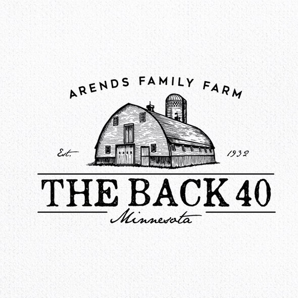 Barn design with the title 'the bacck 40'