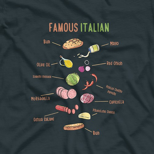 T-shirt with the title 'Famous Italian '