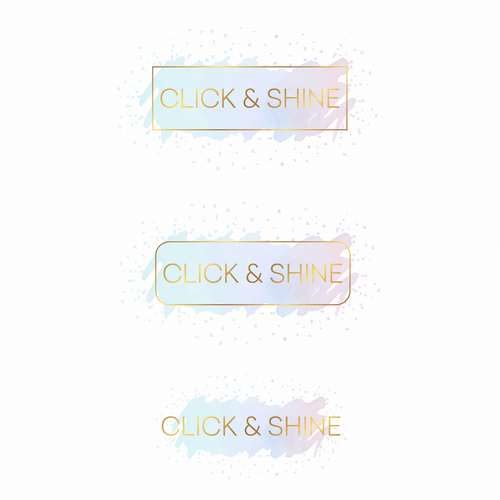 Golden design with the title 'Logo for Click and Shine'