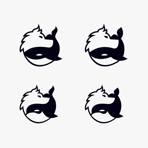 Discover logo with the title 'Whale and Wolf'