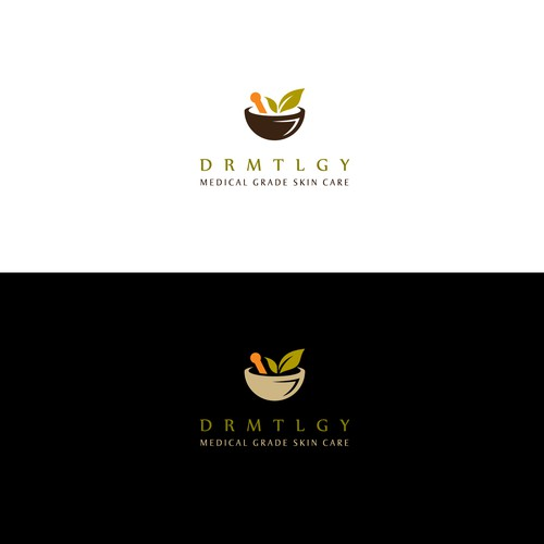 Dermatology logo with the title 'Logo for DRMTLGY Medical Grade Skin Care'