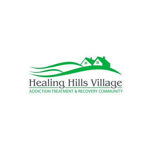 Hill logo with the title 'Winning logo designed for a rehabilitation center in the State of Massachusetts, USA. [October 2015]'