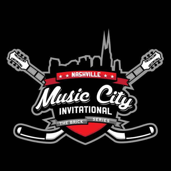 Tournament logo with the title 'Hockey Invitational'
