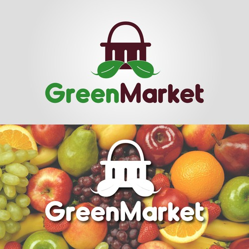 Supermarket logo with the title 'GreenMarket Logo'