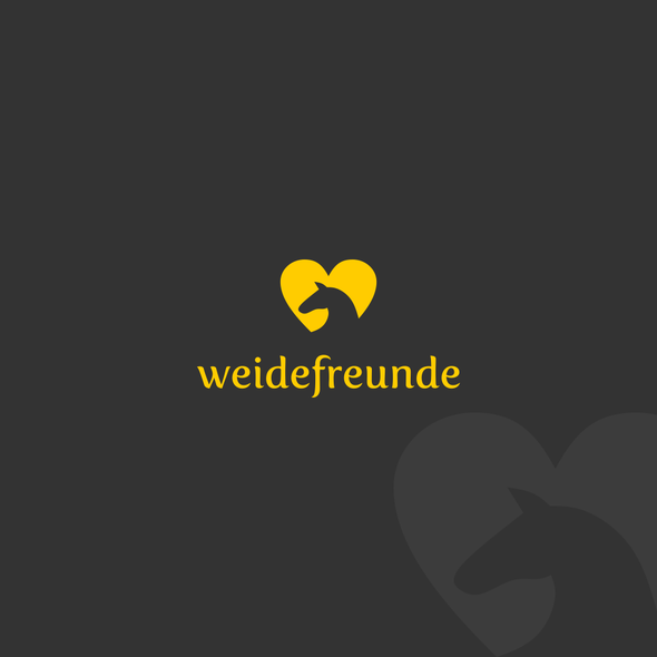 Shelter design with the title 'Lovely logo for horse tent company: Weidefreunde'