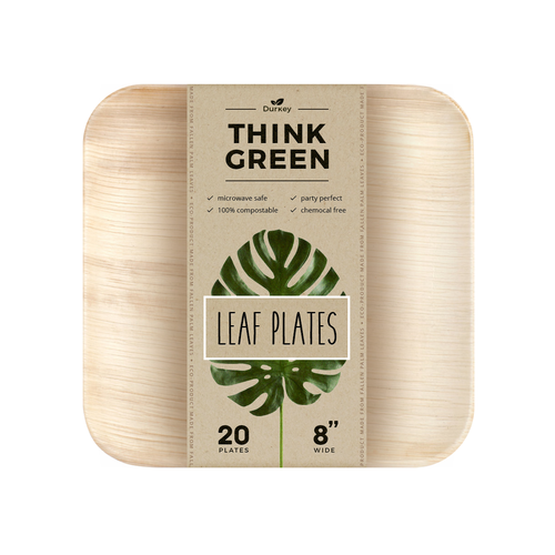 Eco label with the title 'Leafware product label design'