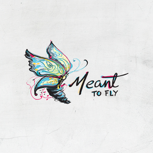 Monarch butterfly logo with the title 'Meant To Fly'
