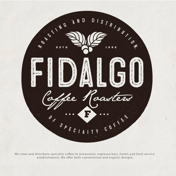 Coffee roaster logo with the title 'Fidalgo Coffee Roasters'