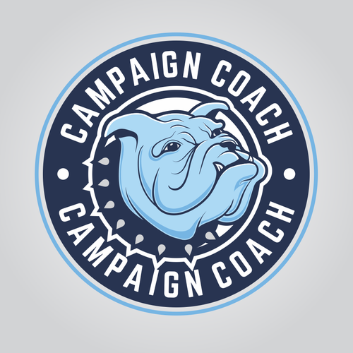 Bulldog logo with the title 'Manly logo for Campaign Coach'