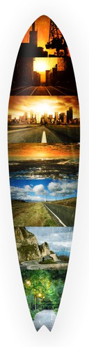 Longboard design with the title 'Looking for our next longboard design!'