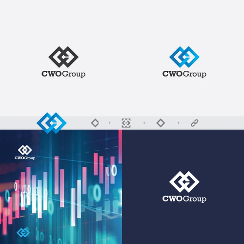 Blend logo with the title 'CWO group'