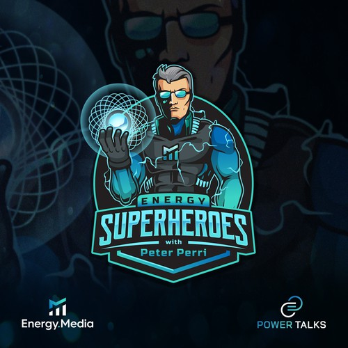 Energy design with the title 'Energy Superheroes'