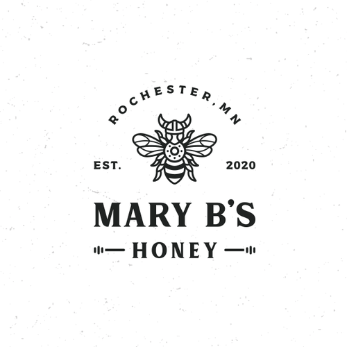 Guardian logo with the title 'Viking Bee for Mary B's Apiary'